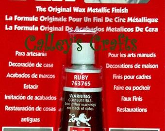 Amaco Rub 'N Buff Wax Metallic Finish ~ Ruby 76376S Crafts Antiques etc