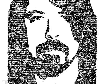 """Dave Grohl-Foo Fighters """"Everlong"""" Print (11x14) *Great gift for guys!* - FREE SHIPPING"""