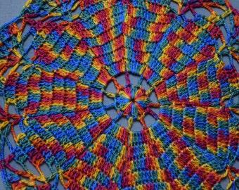 Crochet Doily Colorful Placemat Table Decoration