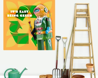 Easy Recycling Toy Astronaut Wall Decal - #55748