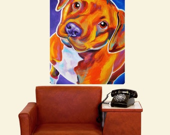 Harlem Crop Pit Bull Dog Wall Decal - #59965
