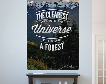 Forest Clearest Way to the Universe Wall Decal - #60678
