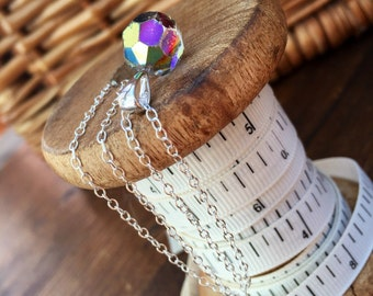 Pre-loved Aurora Borealis Bead Pendant