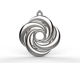 20mm Spiral Pendant