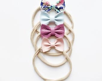 Spring // leather //mini bows