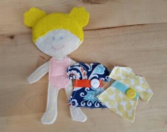 Gwen Felt Paper Doll