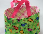 Ladybug Handmade Tiny Small Fabric Tote bags