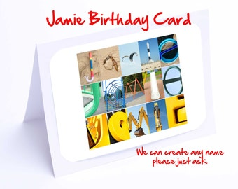 Jamie Personalised Birthday Card
