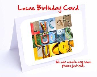 Lucas Personalised Birthday Card
