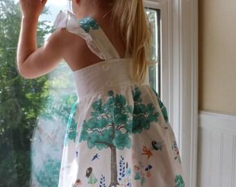 Girls Flutter Sleeve Dress- Dreaming Tree