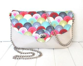 Clutch Bag, Clutch Purse, Clutch Bag with Chain, Faux Leather Clutch, Statement Clutch, Clutch Purse with Chain, Chain Purse, Ladies Handbag