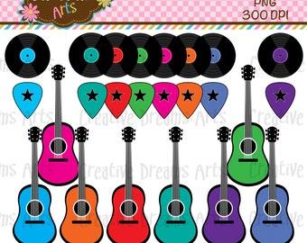 40% Off! Guitar Digital Clip Art Instant Download