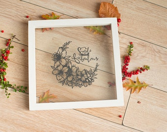 Original papercut - Smaile and be fabulous with flowers