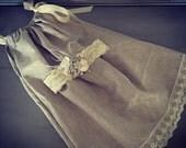 Handmade shabby dress and matching headband