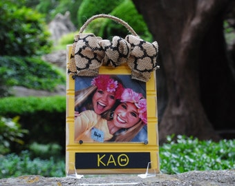 Kappa Alpha Theta Beadboard Frame Ornament