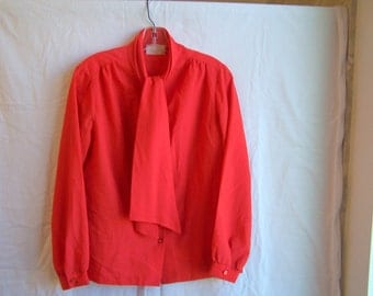 """coral/orange blouse by Lee Mar Pageant, 38"""" chest"""