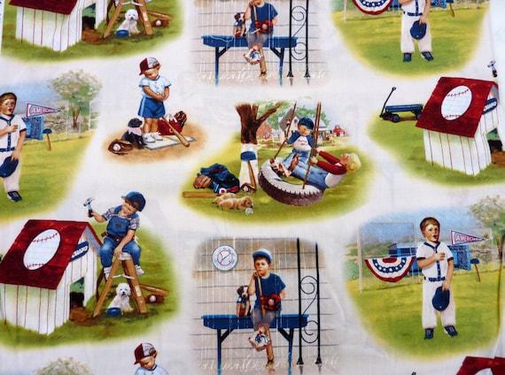 Playground For Boys Baseball Fabric
