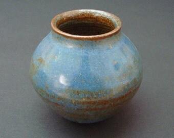 Ceramic vase, small vase, flower vase, handmade vase, blue flower vase, high fired