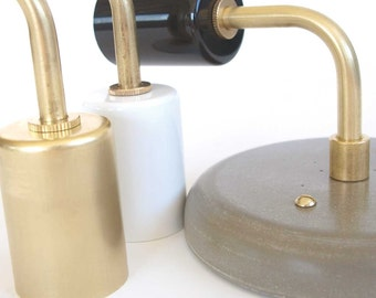 Wall sconce modern lighting brass and concrete