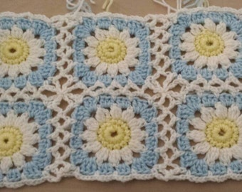 Crochet Kit Sunny Spring Flower Scarf Crochet Kit, Free Shipping in US