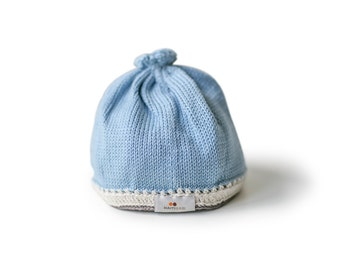 Tranquility Baby Hat: Light Blue