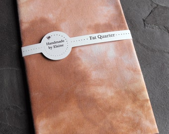 Brown Fawn Fat Quarter - Hand Dyed Fabric, Pastel Chalky Cappucino Latte Chocolate Chestnut Cocoa Mocha Hazelnut Fawn Quilting Cotton, 3071