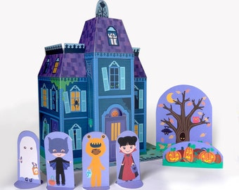 Printable Haunted Mansion Paper toy