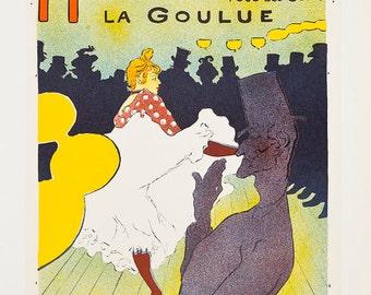 TOULOUSE-LAUTREC - 'Moulin Rouge' - limited edition vintage lithograph - c1951 (Mourlot/Sauret, Paris)