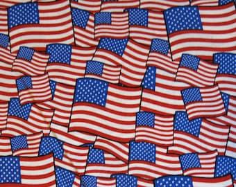 "1/2 yard of 100% cotton ""USA flag"" fabric"