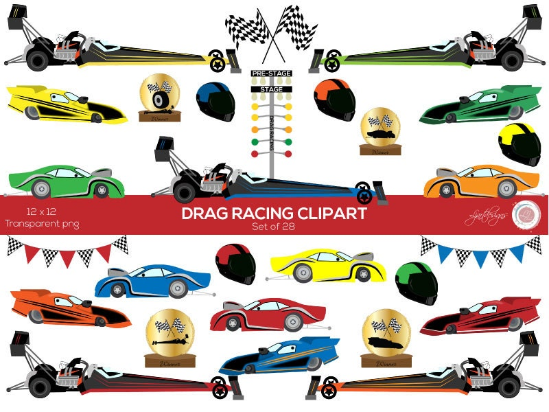 Racing car clipart | Etsy