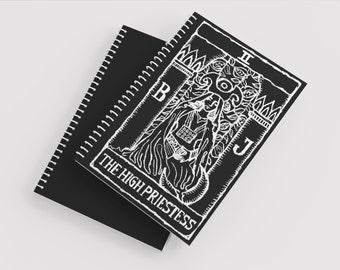 High Priestess Tarot Notebook - Tarot Card Notebook - High Priestess Tarot - Notebook - Journal - Blank Journal- Blank Notebook