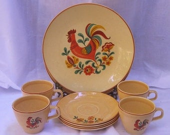 Vintage Taylor Smith and Taylor, Mid-Century Dinnerware set (12 Pieces)