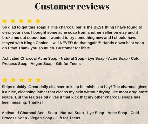 Lye soap for acne