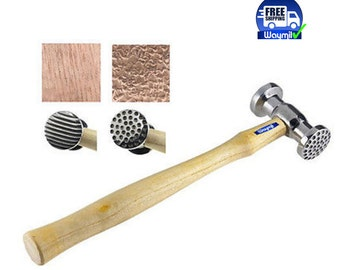 Texturing Hammer, Narrow Stripe/ Dimples,Texture On Metal, Jewelry Beading Tool. 302-011