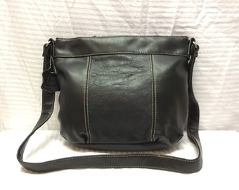 Black Leather Purse Bag Shoulder Bag