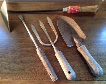 vintage gardening tools from the 60s