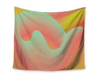 """Akwaflorell """"Way of the Waves"""" Wall Tapestry"""