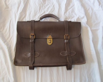 Antique Brown Leather Portfolio Carrying Case