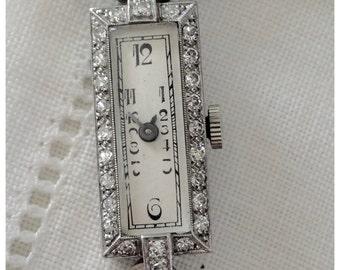 A Vintage Art Deco Platinum and Diamond Ladies' Watch - Melody