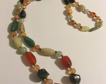Natural Chunky Gemstone Necklace metaphysical