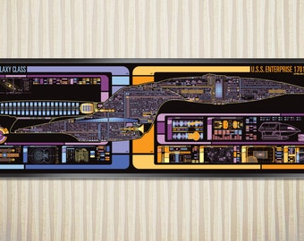 USS Enterprise - Galaxy Class Starship LCARS Poster