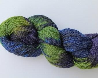 Hand dyed Sock yarn - Superwash Merino Bamboo blend 80/20 - 4 oz hank in Ecru