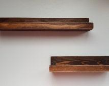 Wooden Picture Ledge Shelf, Gallery Wall Shelf, Rustic Floating Shelf, Wooden Shelf, Rustic Home Decor, 16 inch 24 inch 36 inch