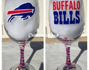 Buffalo Bills Wine Glass 20oz Super Bowl, Game Day, Sunday Football, Party