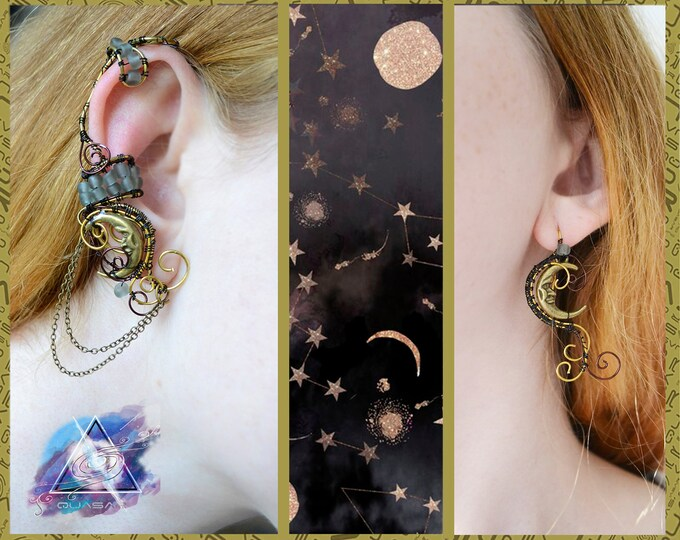 "Ear cuff ""Bronze Moon"" 