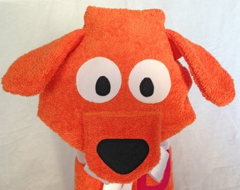 Dog Hooded Towels for Kids - Beach Towels Personalized - Hooded Baby Towel - Pool Towels - Hooded Bath Towel - Baby Boy Gift - Birthday Gift