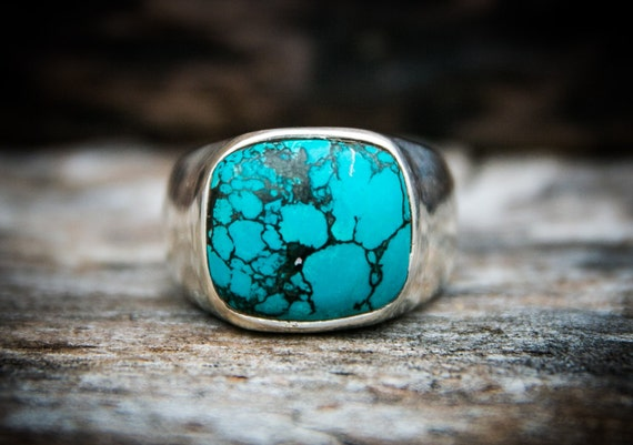 turquoise ring turquoise mens ring size 12 mens turquoise