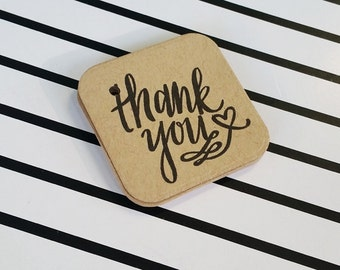 Thank You Brown Tags, Kraft Tags, Thank You Hangtags, Mini Brown Tags, Party Favor Gift Tags