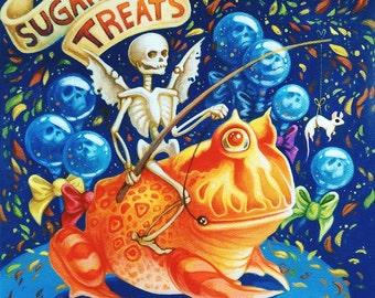 Sugary Treats print by Angel Hawari