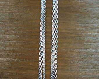 Sterling Silver Fringe Earrings - Sterling Silver Tassel Earrings - Bridesmaid Earrings - Minimalist Jewelry - Silver Statement Earrings